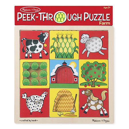 Melissa & Doug Peek-Through Puzzles