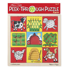 Farm, Melissa & Doug Peek-Through Puzzles, www.bellylaughs.ca