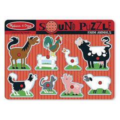 Farm Animals, Melissa & Doug Wooden Sound Puzzles, www.bellylaughs.ca