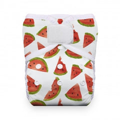 Melon Party, Thirsties One Size Snap Pocket Diaper, www.bellylaughs.ca