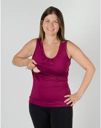 Small / Orchid, Momzelle Active Nursing Tank, www.bellylaughs.ca