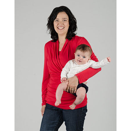 Small / Haute Red, Momzelle Audrey Nursing Top, www.bellylaughs.ca