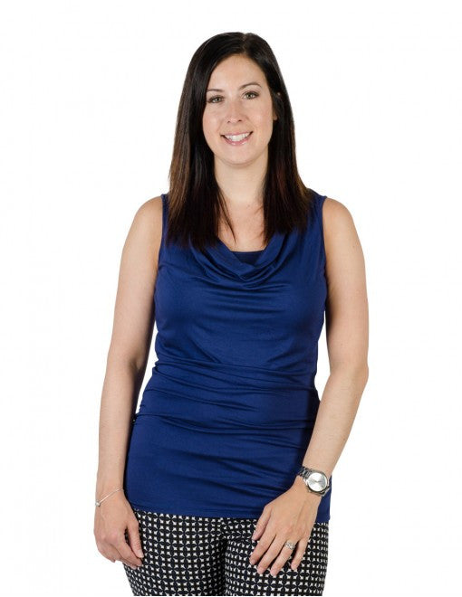 Small / Navy Blue, Momzelle Amanda Nursing Top, www.bellylaughs.ca