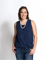 Small / Navy Dots, Momzelle Isabelle Nursing Top, www.bellylaughs.ca