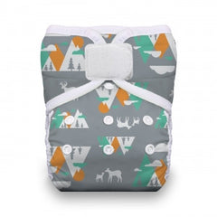 Mountain Range, Thirsties One Size Snap Pocket Diaper, www.bellylaughs.ca