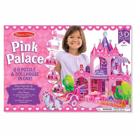 Melissa and Doug Pink Palace 3D Puzzle and Play Set