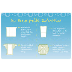 Thirsties Hemp Prefold  - Belly Laughs - A Children's & Maternity Boutique - Canada - 2