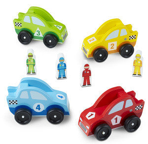 , Melissa & Doug Race Car Vehicle Set, www.bellylaughs.ca
