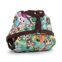 Rumparooz Newborn Cloth Diaper Cover Toki Sweet Chocolate - Belly Laughs - A Children's & Maternity Boutique - Canada - 3