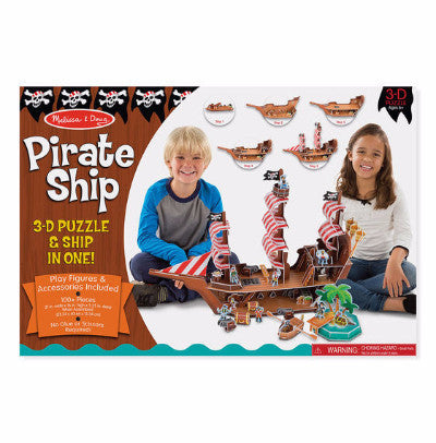 Melissa and Doug Pirate Ship 3D Puzzle and Play Set
