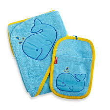 Skip Hop Hooded Towel and Mitt Set  - Belly Laughs - A Children's & Maternity Boutique - Canada