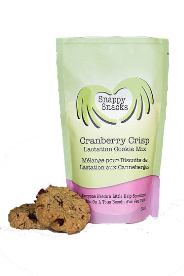 , Snappy Snacks Cranberry Crisp Lactation Cookies, www.bellylaughs.ca