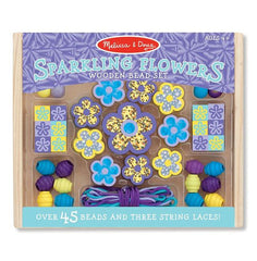 Melissa & Doug Wooden Bead Set, Sparkling Flowers, Arts & Crafts, www.bellylaughs.ca - Maternity & Baby Store