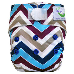 Blue Chevron, Sweet Pea Newborn All in One Cloth Diapers, www.bellylaughs.ca