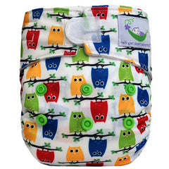 Owls, Sweet Pea Newborn All in One Cloth Diapers, www.bellylaughs.ca
