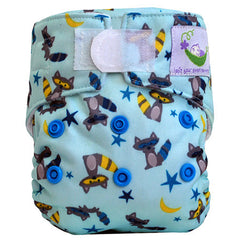 Raccoon, Sweet Pea Newborn All in One Cloth Diapers, www.bellylaughs.ca