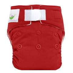 Red, Sweet Pea Newborn All in One Cloth Diapers, www.bellylaughs.ca
