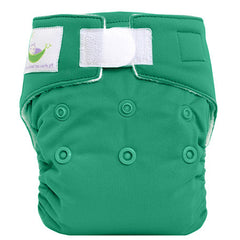 Green, Sweet Pea Newborn All in One Cloth Diapers, www.bellylaughs.ca