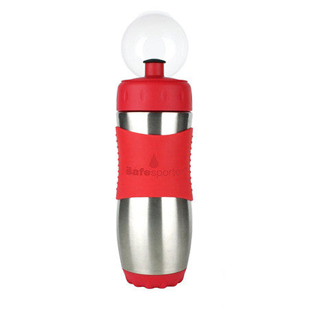 The Safe Sporter 12oz Stainless Steel Sport Bottle