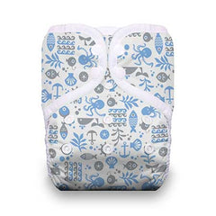 Ocean Life, Thirsties One Size Snap Pocket Diaper, www.bellylaughs.ca
