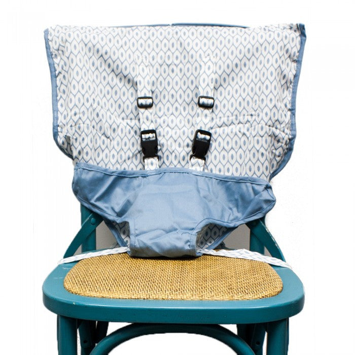Steel Blue, Mint Marshmallow - The Travel Seat, www.bellylaughs.ca