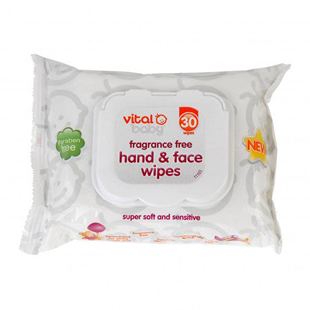 Vital Baby Hand & Face Wipes