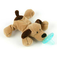 Brown Puppy, WubbaNub Infant Pacifier, www.bellylaughs.ca