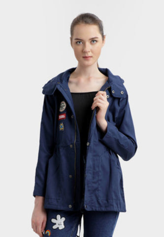 ELOISE PATCHED PARKA IN NAVY