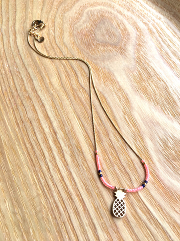 Necklace Pineapple pink
