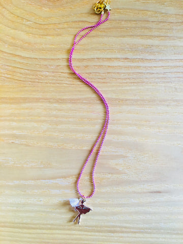 Necklace Ballerina pink