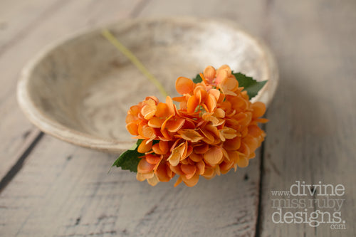 Orange Hydrangea SINGLE STEM