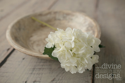 White Hydrangea SINGLE STEM
