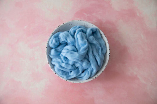100% Merino Soft Baby Blue Roving Wool