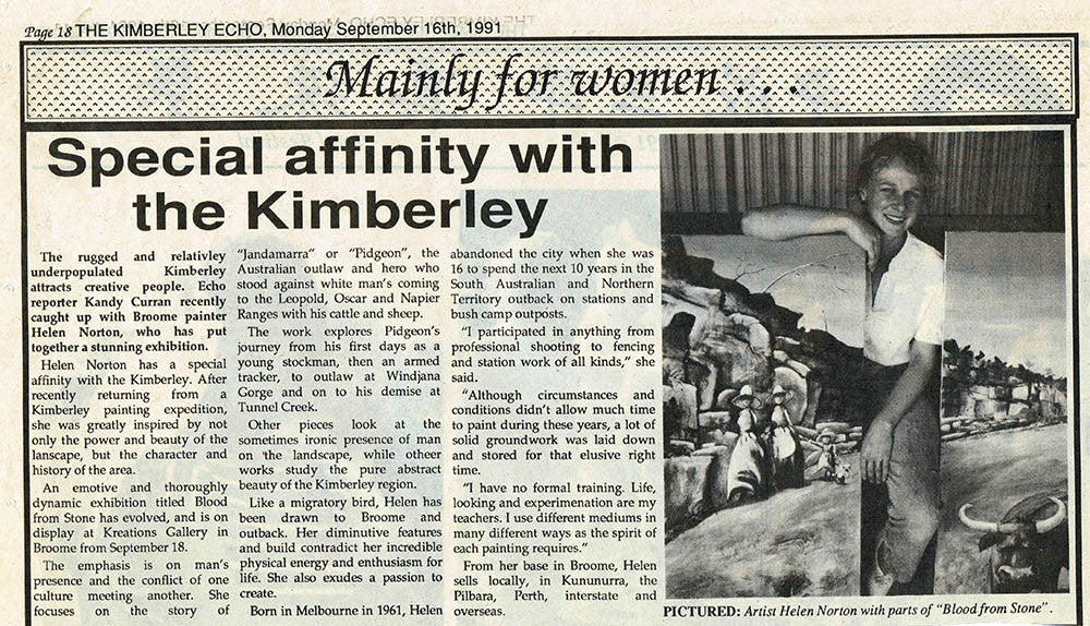 1991 Special Affinity For The Kimberley - The Kimberley Echo