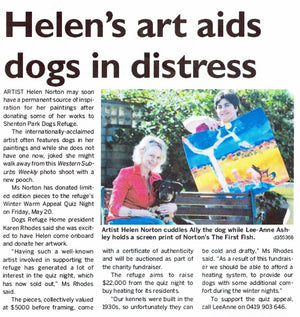 Subiaco Post - Helen's art aids dogs in distress