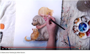 Watercolour Demo of Girl and Dog