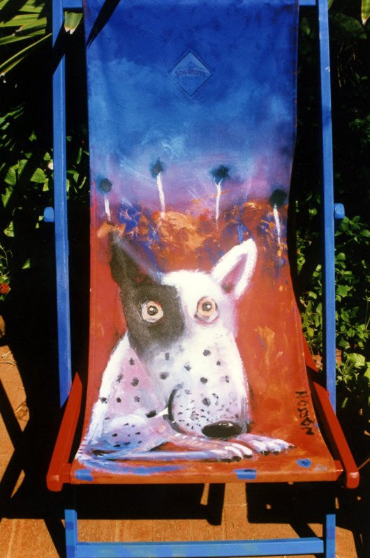 1996 Deck Chair - Blue Dog