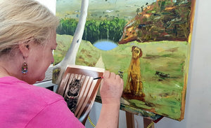 Art Workshop - 2 Day Oil Painting Workshop - Landscape with Animal - November 30th - December 1st 2019 ... PLACES AVAILABLE