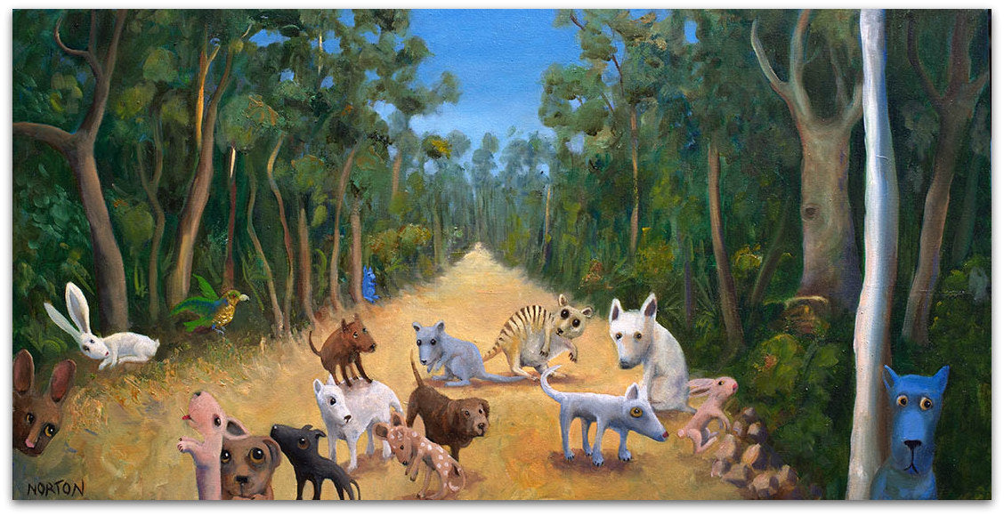 Animals Meeting in the Forest