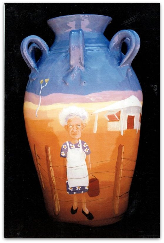 1993 Mrs Hunter Glazed Clay Pot