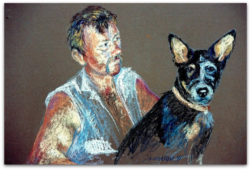 Tony and Frank (my husband and our dog)