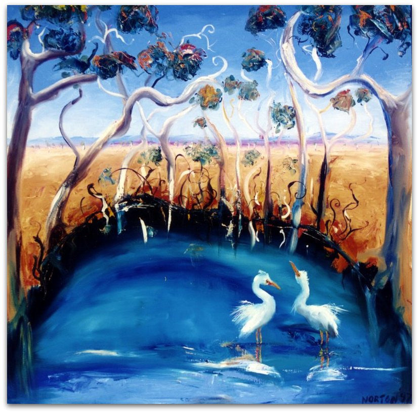 Egrets in Waterhole