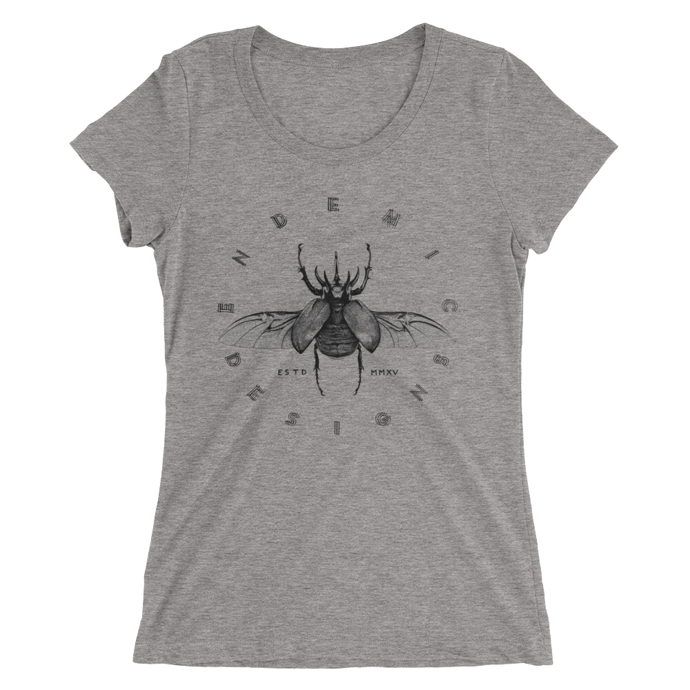 Rhino Beetle Ladies' T-Shirt -  clothing to protect the Amazon rainforest