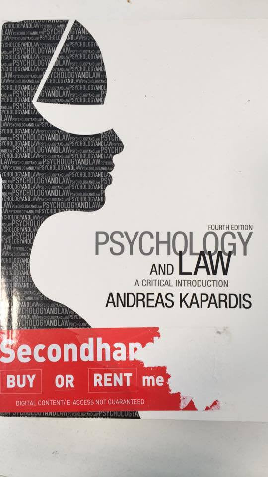 Psychology and law: A critical introduction 4th Edition