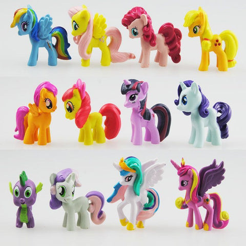12 Pcs My Little Pony Action Figures
