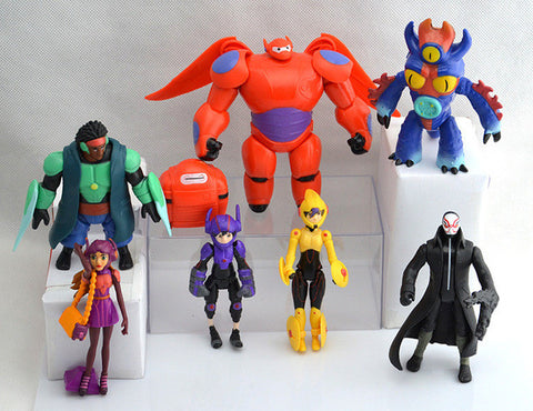 8Pcs Big Hero 6 Action Figures