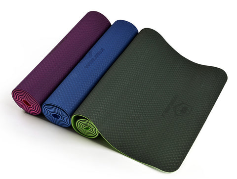 6mm Natural Rubber TPE Yoga Mat with Bag