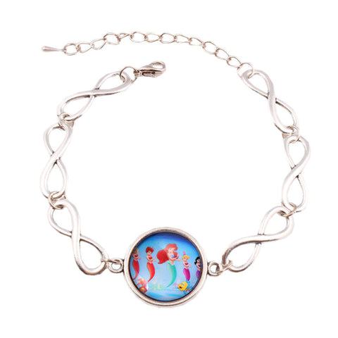 Infinite Little Mermaid Ariel Cabochon Bracelet