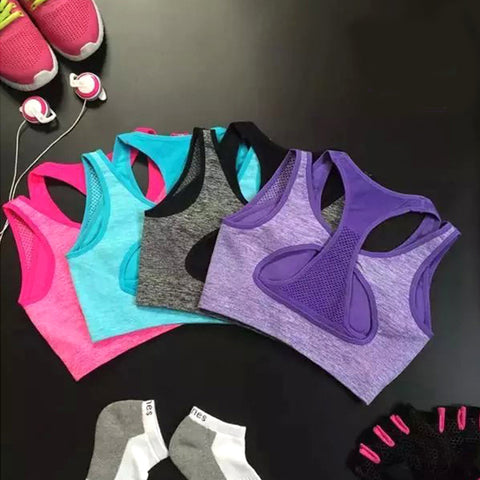 Professional Sports Mesh Sexy Push-up Sports Vest Bra