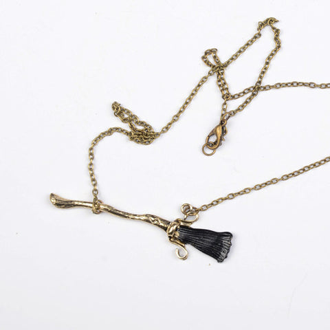 Harry Potter Thunderbolt Magic Broom Necklace